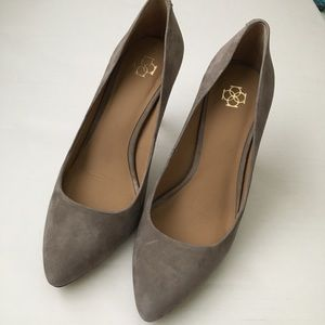 Ann Taylor soft suede heels